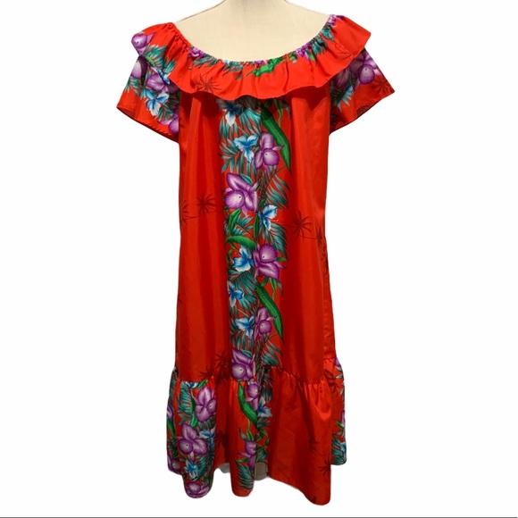 Vintage Hawaiian Dress Hilo Hatties Muu Muu XL
